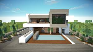 minecraft how to build a modern house 1 8 7 best 2015 tutorial