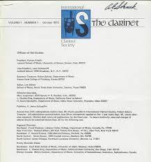 Buffet International Clarinet by History International Clarinet Association