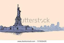 retro new york skyline illustration download free vector art