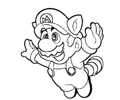 super mario drawing kids coloring
