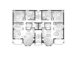House Plans For Two Families Santa Domingo Eight Plex Home Plan 032s 0001 House Plans And More