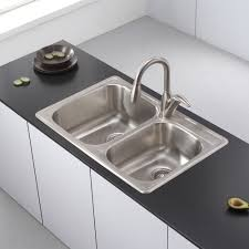 home depot double stainless steel sink home designs home depot kitchen sinks and voguish kitchen sink