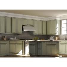 furniture under cabinet range hood with glass windows and wooden
