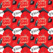 deadpool wrapping paper bullets fabric wallpaper gift wrap spoonflower