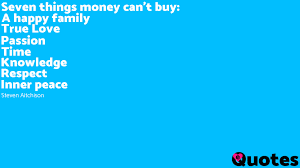seven things money can t buy a happy family true
