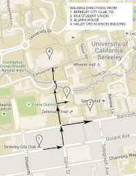 Map Berkeley Directions And Venues Romanticism And Its Discontents