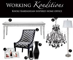 working konditions u2013 khloe kardashian inspired home office