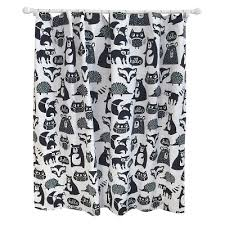 Animal Shower Curtain Forest Friends Shower Curtain Black Pillowfort Target