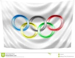 Olimpics Flag Neon Olympic Flag Editorial Photography Image Of Olympiad 37262512