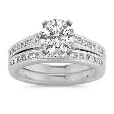 princess cut wedding set cathedral princess cut diamond wedding set with channel setting