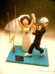 football wedding cake toppers wedding cake topper