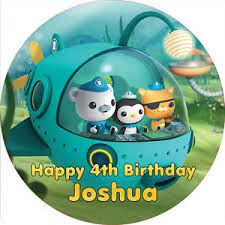 octonauts cake topper octonauts 7 5 cake topper rice paper icing 24hr post ebay
