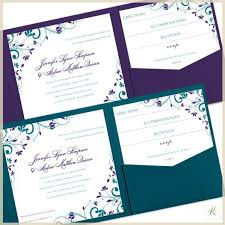 Folded Wedding Invitations Pocket Wedding Invitations Chic Bouquet Oasis Teal U0026 Purple Squa