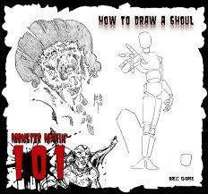 draw monster monsters 101 art reb