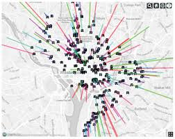 Dc Neighborhood Map Washington D C Digital Kiosks And Sensors To Harvest Wealth Of