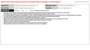 Sample Resume For Drug And Alcohol Counselor by Sample Counselor Resume Jennywasherecom Rehab Counselor