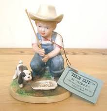 denim days home interior denim days figurine sleds 1528 w tag mint winter