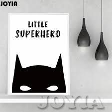 Batman Home Decor Cartoon Superhero Wall Decor Canvas Poster Batman Life Quotes
