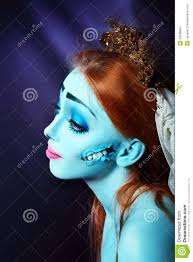 halloween corpse bride makeup corpse bride stock images image 33598604
