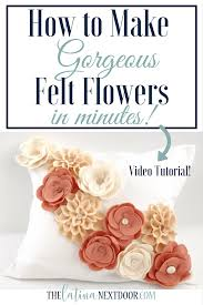 create felt flowers for home decor or fashion accessories the