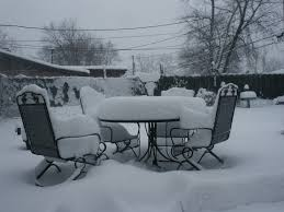 free images table outdoor snow cold ice weather backyard