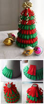 diy ribbon christmas tree would be cute with glitter ribbon too