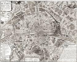 Map Of Paris France Old Paris Map Large Vintage Historic France 1705 Old Antique Style