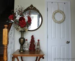 Welcome Home Decor Christmas Foyer And Diy Yarn Wreath Welcome Home Tour In
