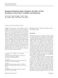 inhalation exhalation ratio modulates the effect of slow breathing