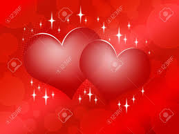 two red hearts on red background happy valentine u0027s day design