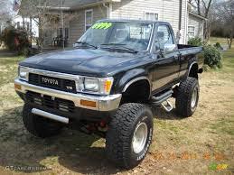 toyota pick up black 1989 toyota pickup sr5 regular cab 4x4 exterior photo