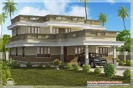 Flat Roof House Flat Roof Home Design With 4 Bedroom Kerala Home Design And