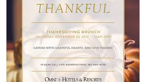 thanksgiving brunch omni houston announcements family events