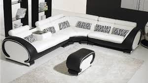 canape angle design canap noir et blanc design deco in canape d angle cuir