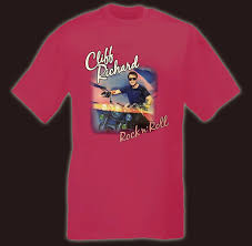 cliff richard t shirts and official tour merchandise