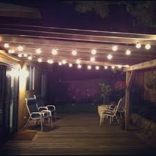 Outdoor Cafe Lighting by Outdoor Bistro String Lights Sacharoff Decoration