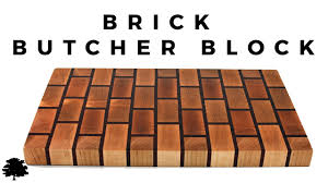 brick butchers block cutting board maple and padauk youtube
