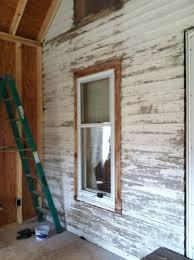 Log Siding For Interior Walls Painting Wooden Lap Siding Hometalk