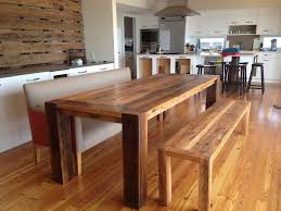 Dining Table With Bench With Back Kitchen Table With Bench The Table Is Found On Hayneedle Is