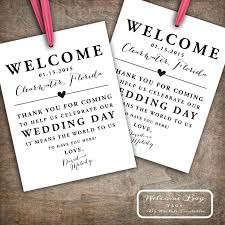 wedding hotel bags custom printable wedding welcome bag tags labels hotel welcome