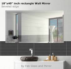 rectangle wall mirrors discounted frameless bathroom rectangle
