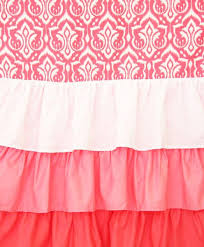 Ruffled Curtains Pink Nursery Curtains Caden Lane