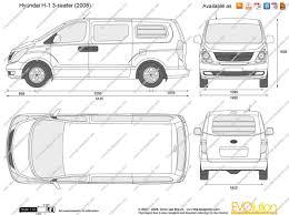 lexus panel van the blueprints com vector drawing hyundai h 1 3 seater panel van