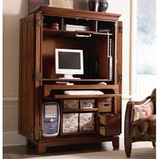 Home Office Desk Armoire Riverside American Crossings Computer Armoire Fawn Cherry