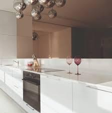miroir cuisine crédence de cuisine miroir sur mesure