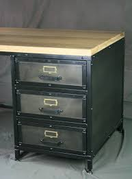 Modern Industrial Desk Combine 9 Industrial Furniture U2013 Modern Industrial Desk With Drawers
