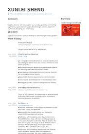 Creative Director Resume Sample by Artist Resume Sample 16 Animator Resume Sample Uxhandy Com