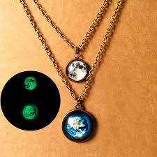 aliexpress moon necklace images 1pc glowing jewelry galaxy moon necklace glass art photo earth jpg
