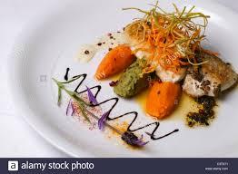 la nouvelle cuisine nouvelle cuisine gourmet fish dish stock photo royalty free image