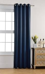 Navy Blackout Curtains Best Home Fashion Navy Solid Grommet Top Thermal Insulated